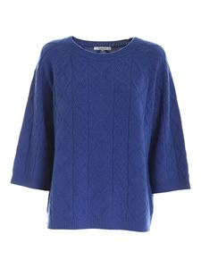 Kangra Cashmere - Tricot effect pullover in blue