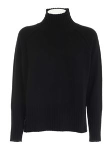 Kangra Cashmere - Merino wool and cashmere pullover in black