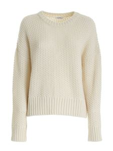 Parosh - Drilled sweater in white
