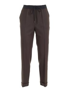 Parosh - Liliuxy brown pants with drawstring