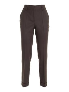 Parosh - Virgin wool pants in brown