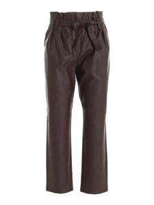 be Blumarine - Belt synthetic leather pants in brown