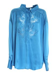 Ermanno by Ermanno Scervino - Lace oversize shirt in light blue