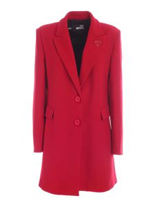 Love Moschino - Lined coat in red