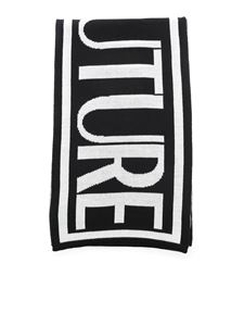 Versace Jeans Couture - Maxi logo scarf in black and white