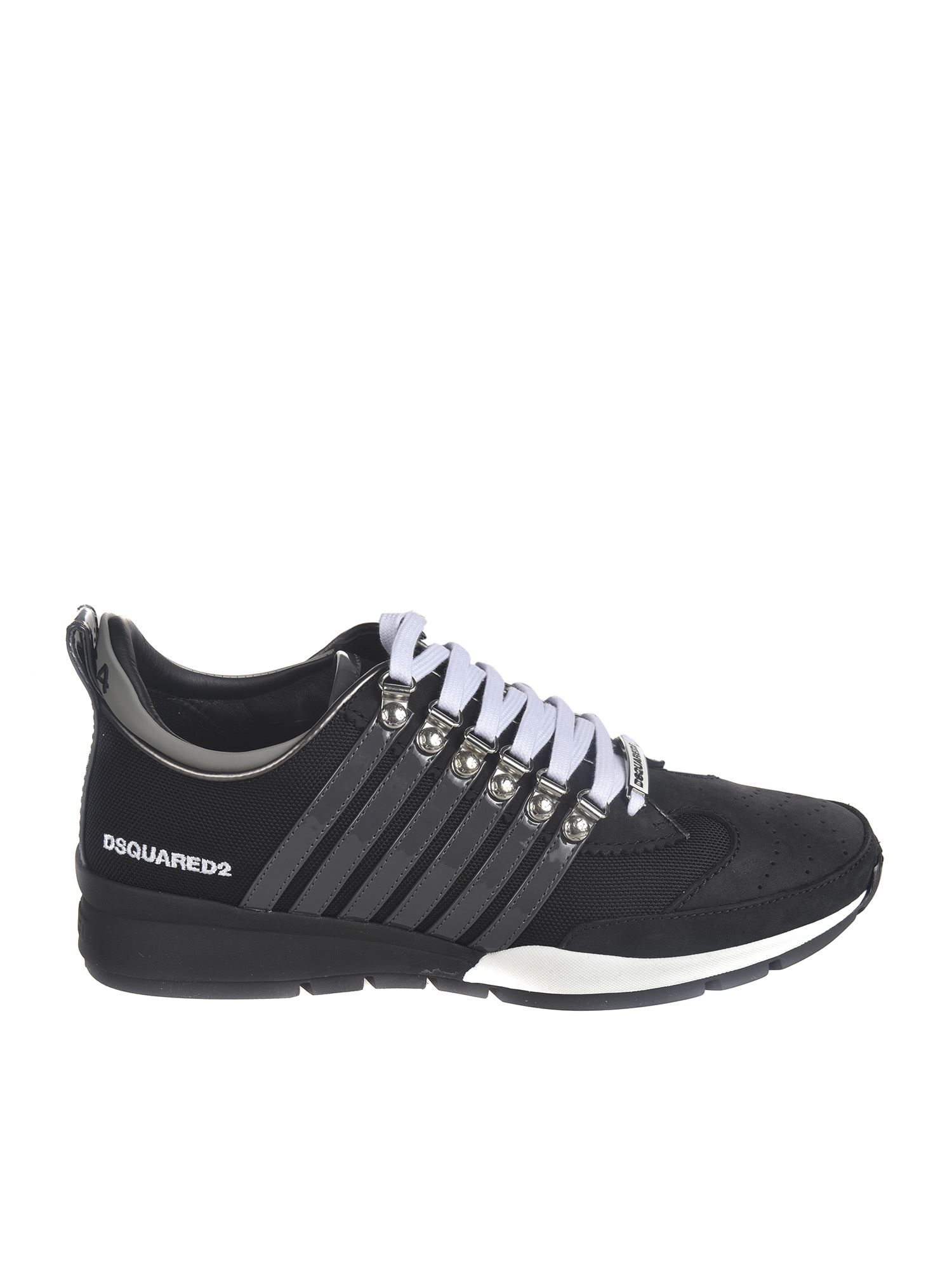 Dsquared2 SNEAKERS WITH PAINTED DETAILS IN BLACK