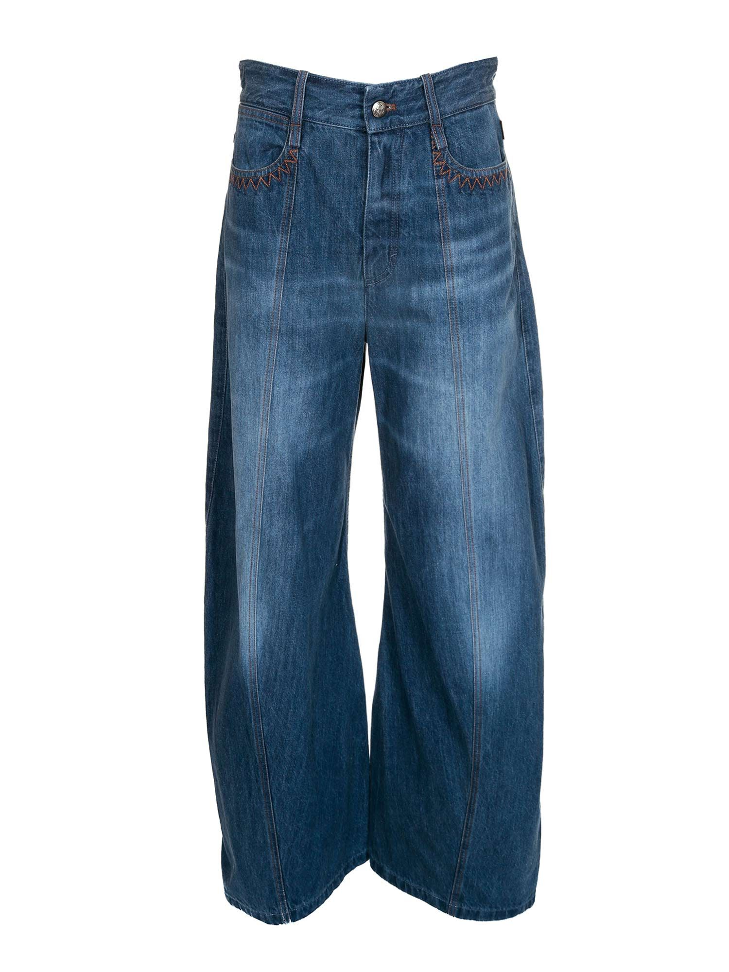 Chloé WIDE LEG JEANS IN BLUE