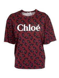 Chloé - Wide T-shirt in red