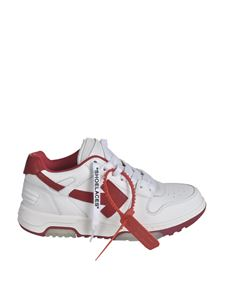 Off-White - Sneakers Out Of Office bianche e rosse