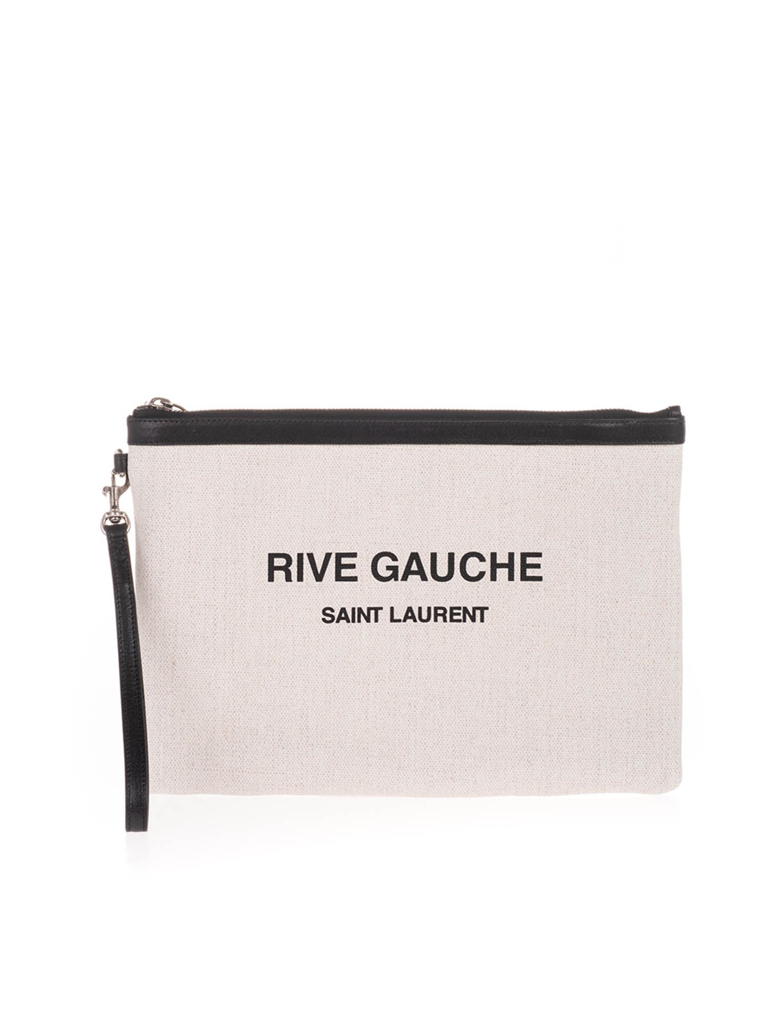 Saint Laurent RIVE GAUCHE CLUTCH BAG IN WHITE