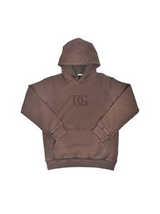 Dolce & Gabbana Jr - Hoodie in faded brown