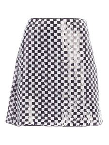 Emporio Armani - Sequins skirt  in white and black