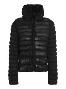 Avant Toi - Lurex and wool puffer jacket in black