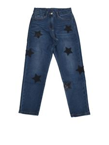 Monnalisa - Jeans with stars in blue