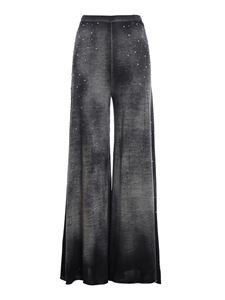 Avant Toi - Embellished palazzo trousers in grey