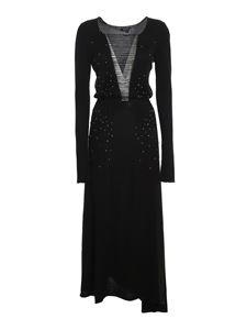 Avant Toi - Embellished long dress in black