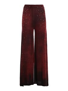 Avant Toi - Embellished palazzo trousers in red