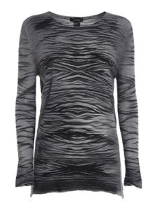 Avant Toi - Zebra-stripe patterned jumper in grey