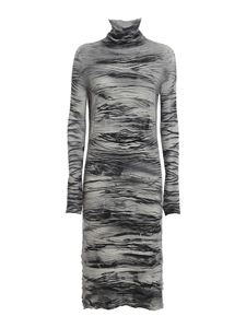Avant Toi - Zebra-stripe patterned dress in grey