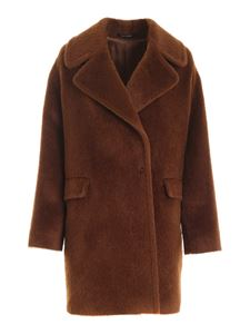 Tagliatore - Astrid double-breasted coat in brown