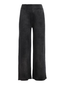 Avant Toi - Piqué stitch pants in black