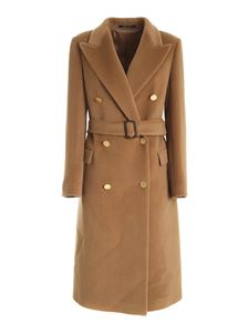 Tagliatore - Jole/C double-breasted coat in camel color