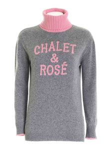 MC2 Saint Barth - Chalet & Rosè embroidery turtleneck in grey