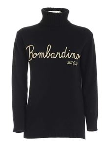 MC2 Saint Barth - Bombardino embroidery turtleneck in black