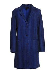 Avant Toi - Pilling effect wool coat in blue