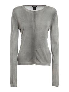 Avant Toi - Cashmere silk blend cardigan in grey