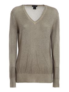 Avant Toi - Mélange cashmere V-neck sweater in grey
