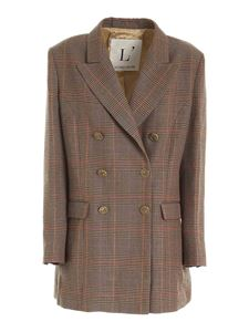 L'Autre Chose - Prince of Wales check jacket in brown