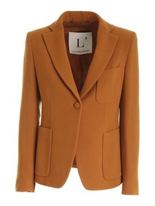 L'Autre Chose - Wool single-breasted jacket in ocher color