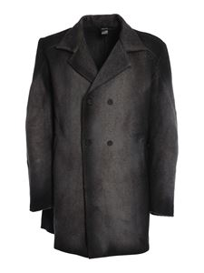 Avant Toi - Gradient effect double-breasted coat in grey