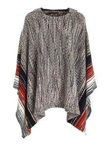 Missoni - Black beige and in shades of brown poncho