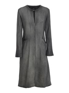 Avant Toi - Mat stitch coat in grey