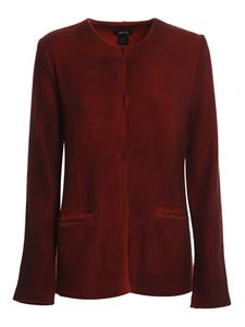 Avant Toi - Mat stitch jacket in red