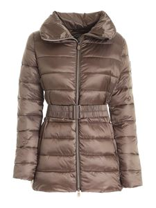 Save the duck - Quilted puffer jacket in brown