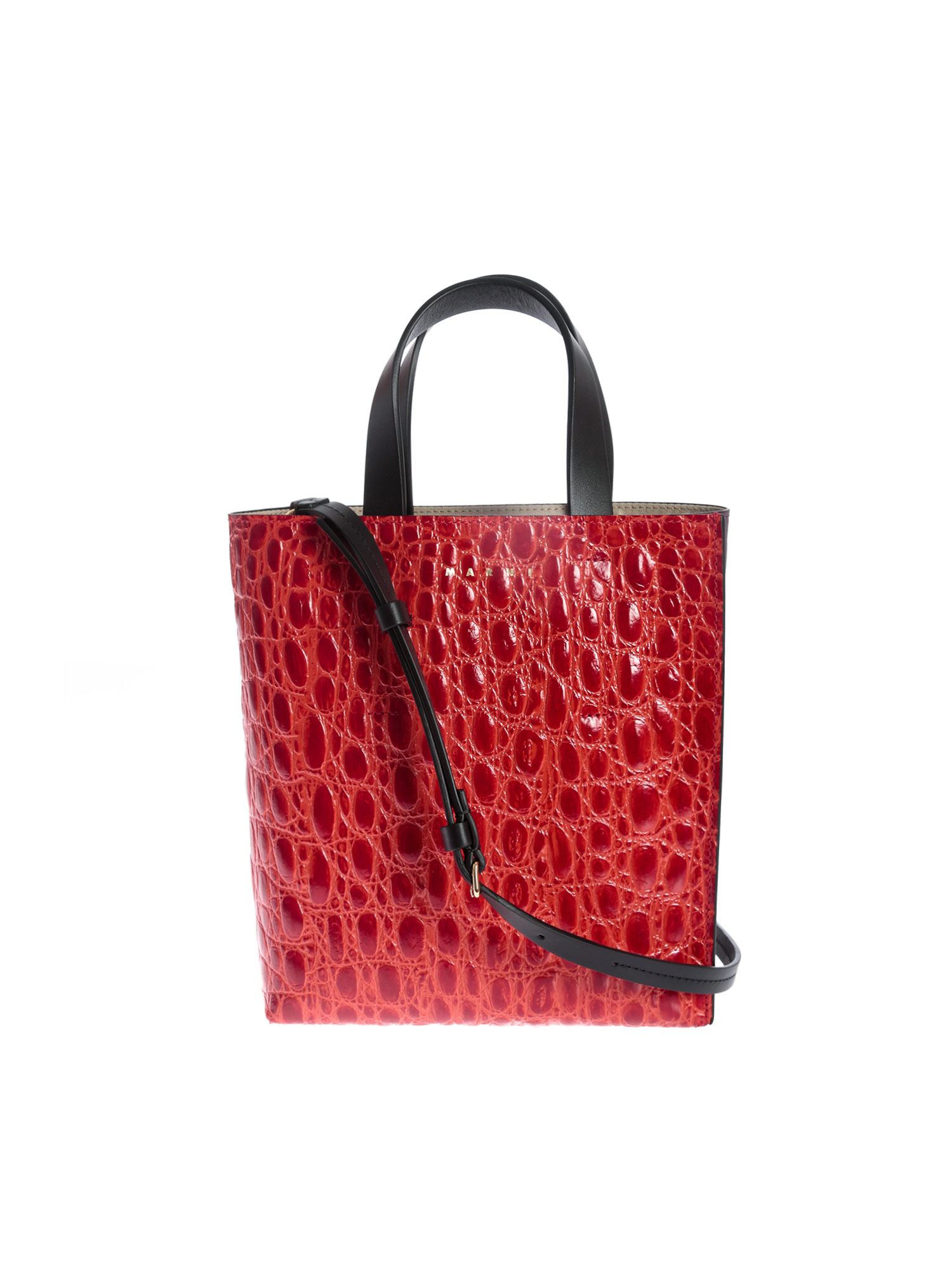 MARNI MUSEO SOFT BAG IN RED