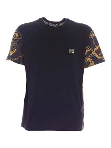 Versace Jeans Couture - T-shirt Shield Baroque nera