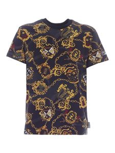 Versace Jeans Couture - T-shirt stampa Shield Baroque nera
