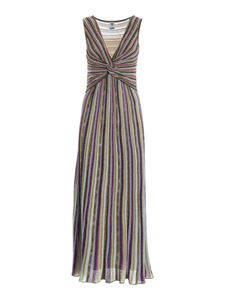 M Missoni - Lamé knitted multicolor dress with weave