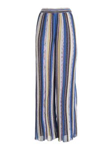 M Missoni - Palazzo pants in shades of blue and purple