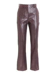 M Missoni - Chevron pattern lamé pants