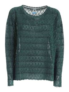 M Missoni - Lamè semi-transparent sweater in green