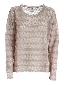 M Missoni - Lamè semi-transparent sweater in beige