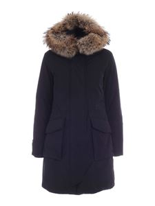Woolrich - Fur details parka in black
