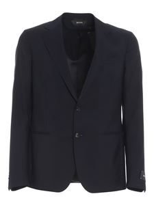 Z Zegna - Worsted wool blend suit in blue