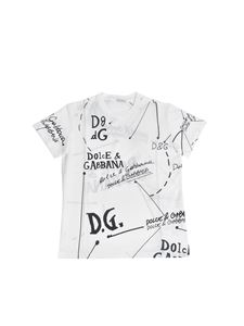 Dolce & Gabbana Jr - Printed T-shirt in white