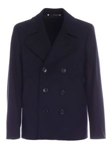 PS by Paul Smith - Wool and cashmere coat in blue
